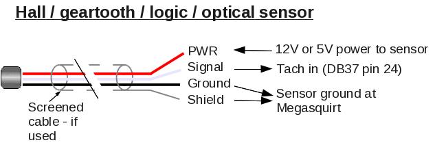 megasquirt (v3 0 board) tach input M12 Sensor Wiring v3 hall wiring
