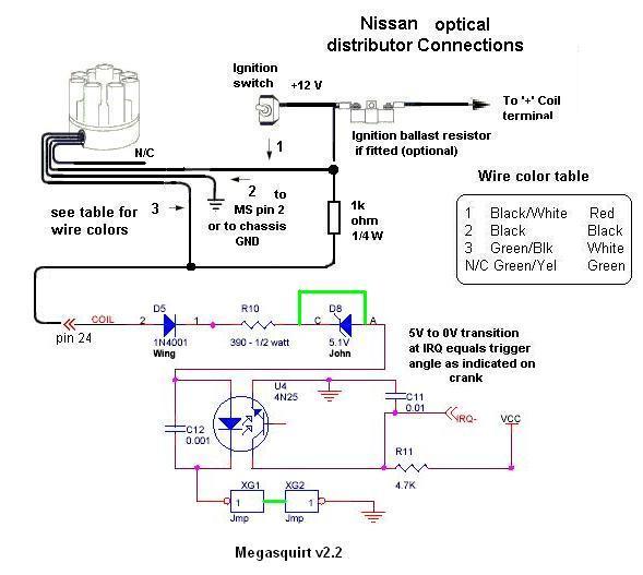 Megasquirt W   Nissan Optical Distributor