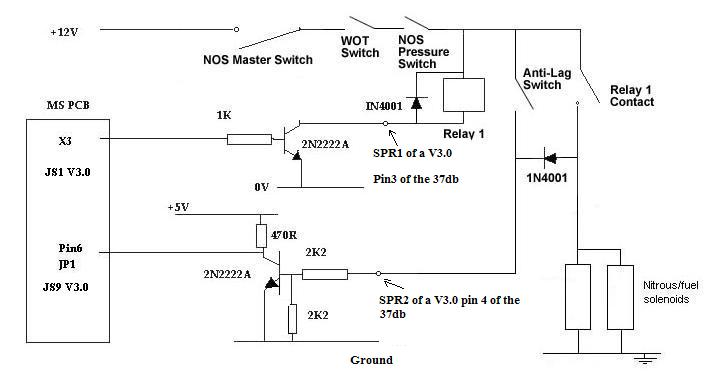 ms extra hardware manual about certain rpm etc if you want to be more advanced you can retard the timing or switch to a new fuel and or spark map when the nos is activated