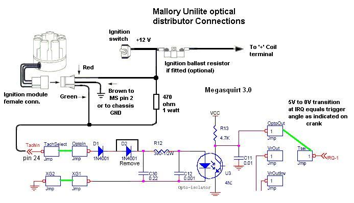 Mallory Unilite Distributor Wiring - Wiring Diagrams Owner on