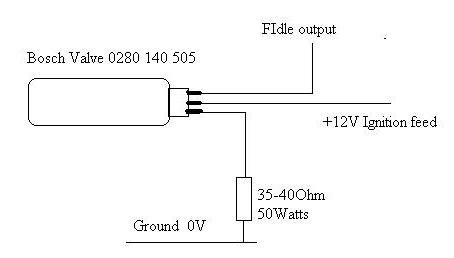 base settings for the bosch valve in warmup only mode: